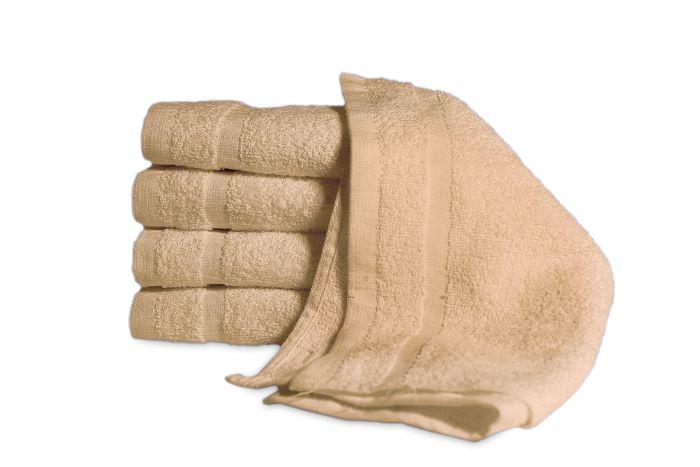 Economy Wash Cloth Beige - Dozen 12