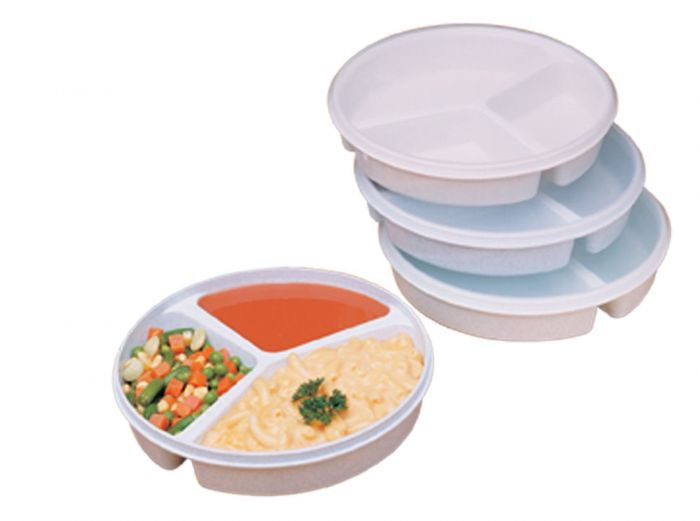 Partitioned Scoop Dish With Lid-High Walls