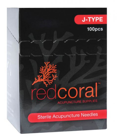 Red Coral™ J-Type Acupuncture Needles 100/Box
