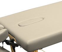 Custom Craftworks™ Crescent Face Hole with Pillow and Plug Massage Table Upgrade
