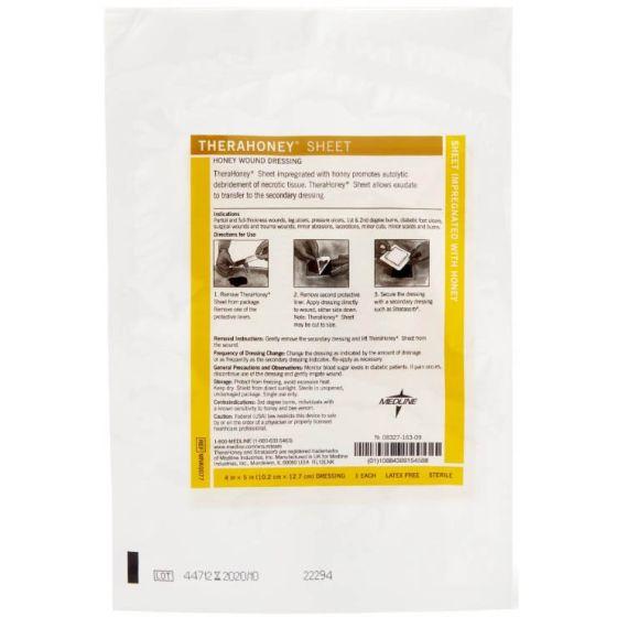 "TheraHoney Wound Dressing Sheet – 4"" x 5"" Each"