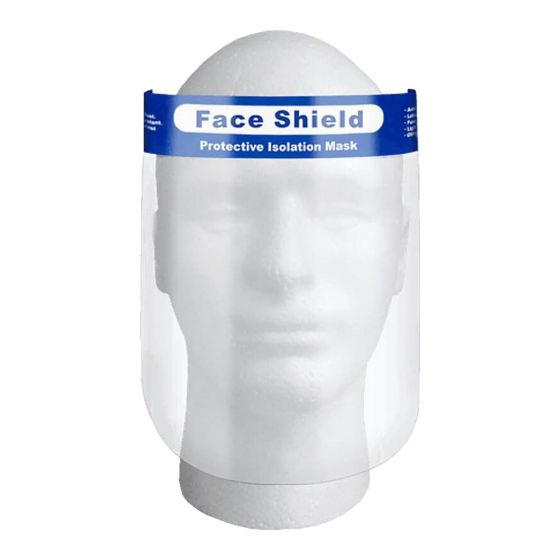 Face Shield Direct Splash Protection - 10/pk