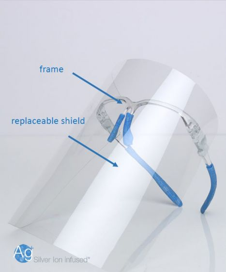 Bio-Therapeutic bt-shield™ Replacement Face Shields, 4 pack.