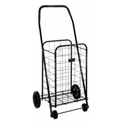 Folding Shopping Cart in Black - Each