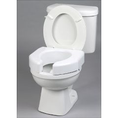 Basic Open Front Raised Elevated Toilet Seat - Each