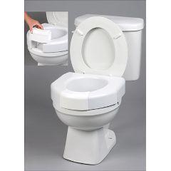 Maddak Basic Open Front Raised  Elevated Toilet Seat w/ Closed Front Option - Basic Open Front Elevated Toilet Seat w/ Closed Front Option