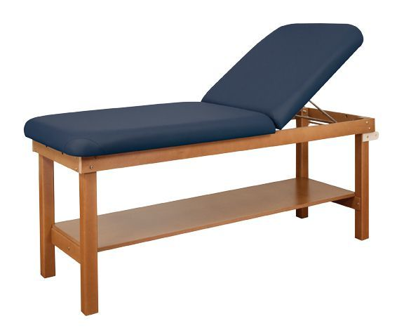 Oakworks Powerline Treatment Table With Shelf And Backrest