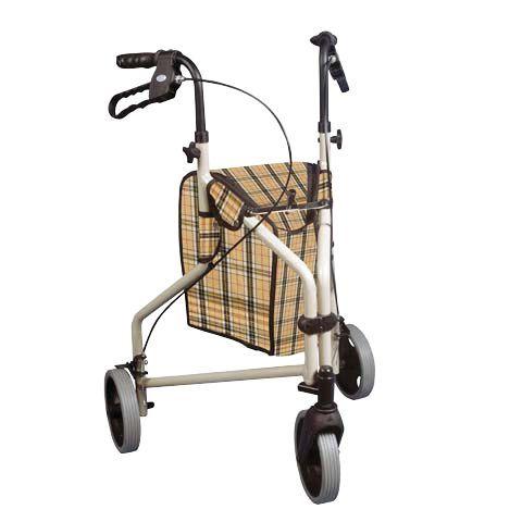 Winnie Lite Supreme 3 Wheel Alum Rollator, Plaid