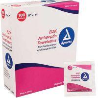 Dynarex BZK Antiseptic Towelettes Box of 100