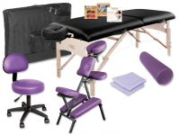 NRG® Just Give Me Equipment Package - Vedalux Massage Table & Grasshopper Massage Chair Package
