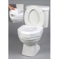 Basic Open Front Raised Toilet Seat with Closed Front Option -Elevated Toilet Seat