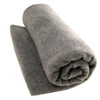 """Washable Wool Woven Blanket in Gray - 66"""" X 84"""""""