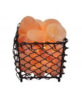 Square Himalayan Salt Stone Warmer With Stones