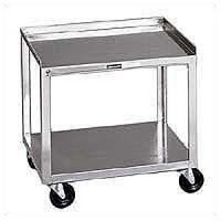 Stainless Steel Rolling Cart 2 Shelf