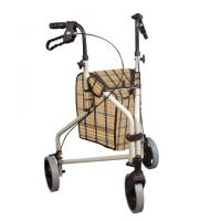 Winnie Lite Supreme 3 Wheel Alum Rollator, Plaid